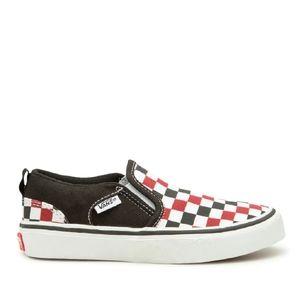 Vans Youth Checkerboard Asher Slip On Sneaker